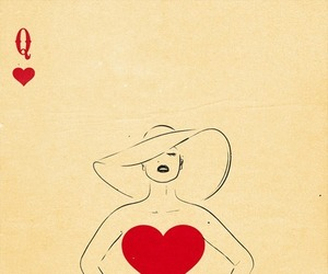 Queen, heart, and art image