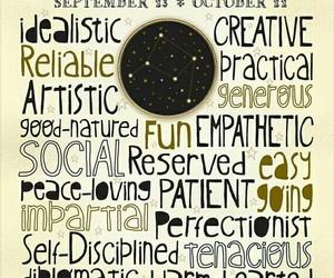 Libra, zodiac, and october image
