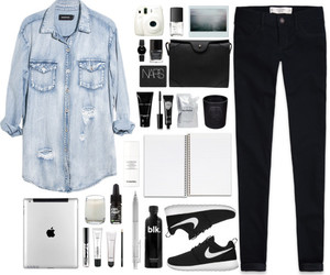 denim, fashion, and nike image