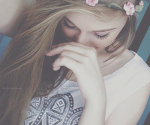 festival, girl, and flower crown image