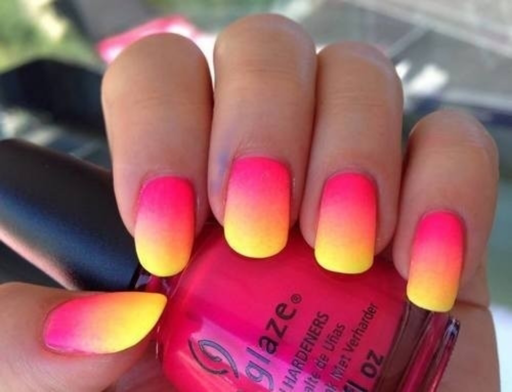 Image about pink in love nails by steffie on We Heart It