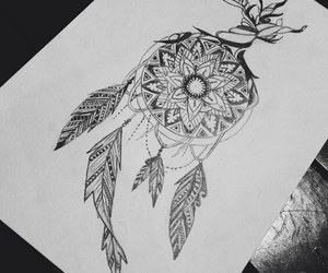 draw, drawing, and dreamcatcher image