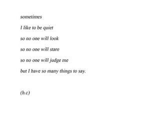 quiet, sad, and shy image