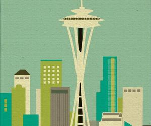 city, landmark, and seattle image