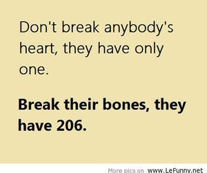 funny, heart, and bones image