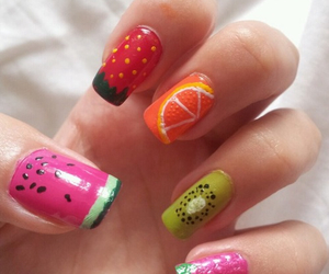 nails, fruit, and orange image