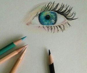 beauty, drawing, and eyes image