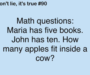 funny, math, and true image