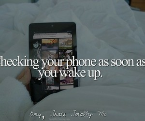 phone, quote, and wake up image
