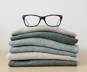glasses, sweater, and clothes image