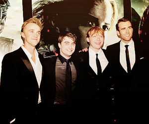 daniel radcliffe, harry potter, and Matthew Lewis image