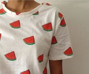 casual, watermelon, and fashion image