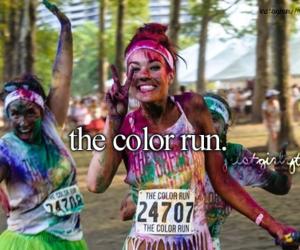 run, fun, and color image