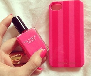 pink, Victoria's Secret, and nails image