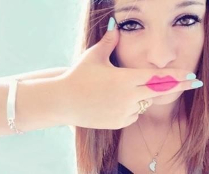 girl, lips, and nails image