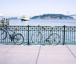 bike, sea, and vintage image