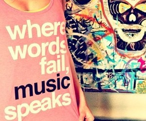music and words image