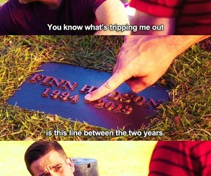 glee, finn, and quote image