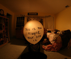 life, fragile, and balloons image