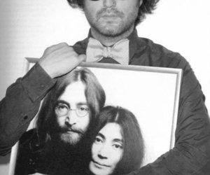 john lennon, john and yoko, and sean lennon image