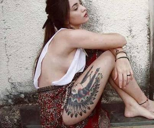 indian, thigh, and tattoo image