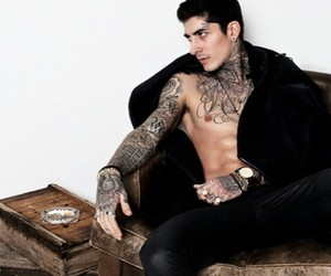 cute guy, inked, and male model image