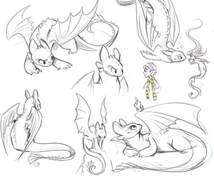 dragon, drawings, and toothless image