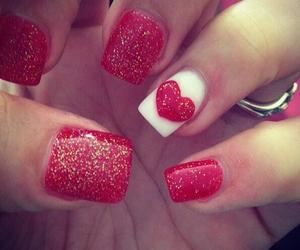nails, valentines day, and gel nails image
