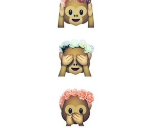 monkey, flowers, and sweet image