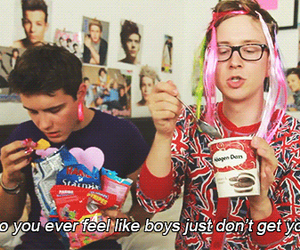 boy, tyler oakley, and alfie image
