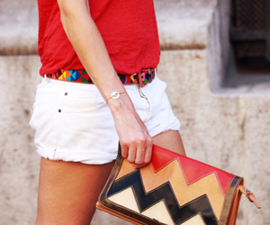 fashion, clutch, and shorts image
