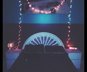bed, Dream, and lights image