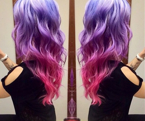 hair and colored hair image