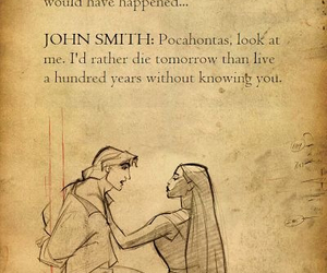 john smith, true love, and pocahontas image