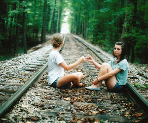 best friends, girls, and love image