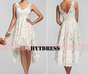 asymmetrical, rom dress, and lace dress image