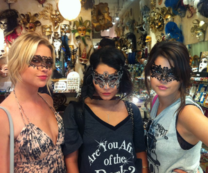selena gomez, ashley benson, and vanessa hudgens image