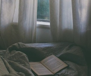 book, bed, and vintage image