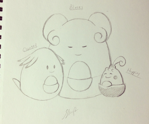 drawing, pokemon, and chansey image