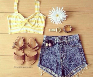 outfit, summer, and flower image