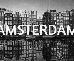 amsterdam, netherlands, and black and white image