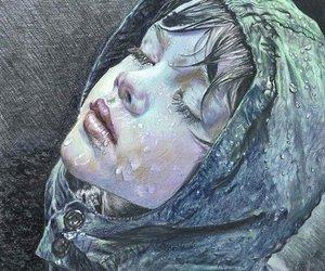 rain, art, and drawing image