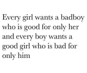 bad boy, good girl, and quote image