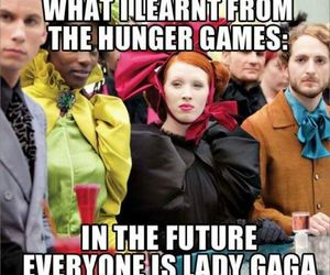 funny, Lady gaga, and hunger games image
