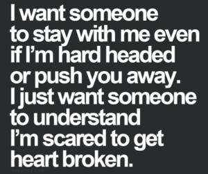 broken heart, stay, and love image