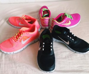 nike, pink, and love image