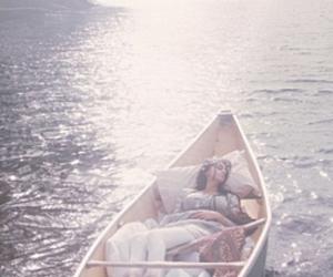 boat, sleep, and water image