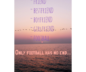 end, football, and girl image