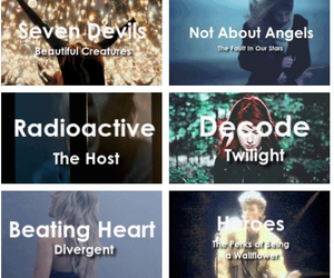 twilight, divergent, and thehost image
