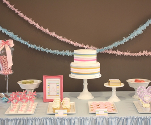 baby, desserts, and shower image